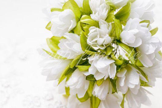 Открытки и скрапбукинг ручной работы. Ярмарка Мастеров - ручная работа. Купить Первоцветы из ткани, 12 штук. Handmade. Белый, роза