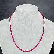 Работы для детей, handmade. Livemaster - original item Silver 925pr. Beads red ruby spinel cut. Handmade.