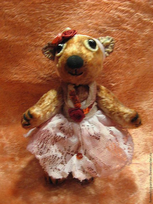 Игрушки животные, ручной работы. Ярмарка Мастеров - ручная работа. Купить медведь из винтажного плюша  Мила. Handmade. Мишки тедди