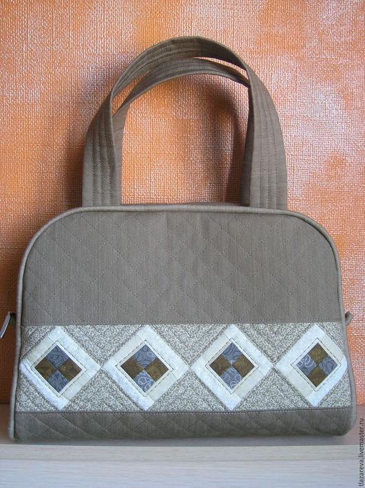 """Женские сумки ручной работы. Ярмарка Мастеров - ручная работа. Купить Лоскутная сумка """"Дюны"""". Handmade. Бежевый, ткань для пэчворка"""