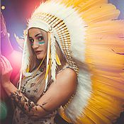 Одежда handmade. Livemaster - original item Indian headdress - Sunny Narcissus. Handmade.