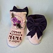 Обувь ручной работы handmade. Livemaster - original item Slippers-boots for mom. Handmade.
