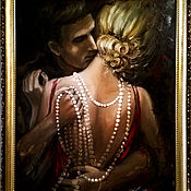"""Картины и панно ручной работы. Ярмарка Мастеров - ручная работа Картина маслом """"Прикосновения"""". Handmade."""