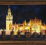 Картины и панно ручной работы. Ярмарка Мастеров - ручная работа Собор в Севилье. Handmade.