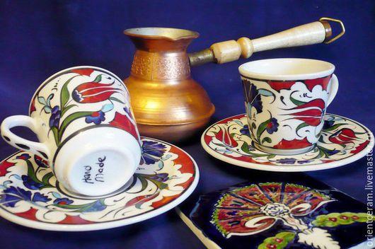 Сервизы, чайные пары ручной работы. Ярмарка Мастеров - ручная работа. Купить Керамическая чашка с блюдцем. Handmade. Чайная пара