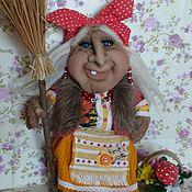 """Куклы и игрушки ручной работы. Ярмарка Мастеров - ручная работа Баба Яга """"Кнопка Потаповна"""". Handmade."""