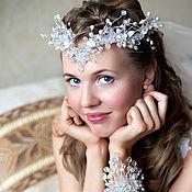 Серебристый свадебный венец