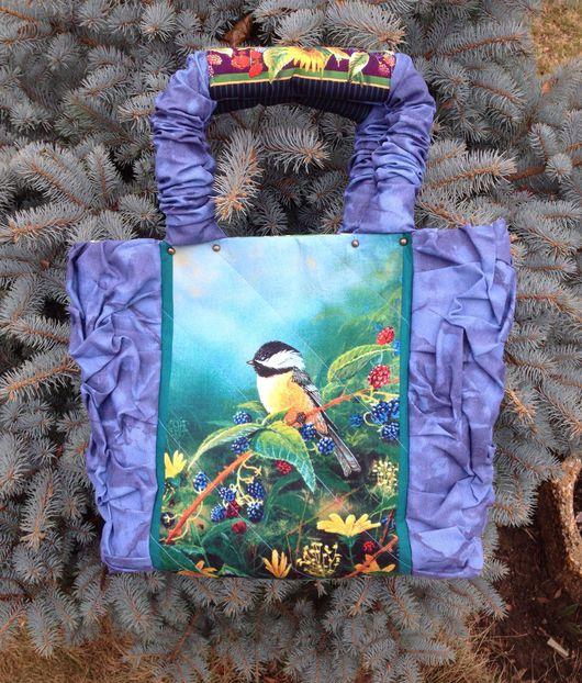 """Женские сумки ручной работы. Ярмарка Мастеров - ручная работа. Купить Сумка """"Поющие на рассвете"""" с браслетом в комплекте. Handmade. Голубой"""