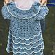 """Крестильные принадлежности ручной работы. Ярмарка Мастеров - ручная работа. Купить крестильное платье """"для доченьки"""". Handmade. Голубой"""