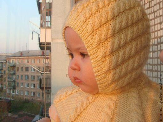 Одежда для девочек, ручной работы. Ярмарка Мастеров - ручная работа. Купить шапка шлем для девочки крючком. Handmade. Шапка шлем