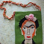 Сумки и аксессуары handmade. Livemaster - original item Bag Frida author`s knitted handbag case cover. Handmade.
