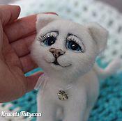 Куклы и игрушки handmade. Livemaster - original item Copyright felt toy cat Feather:). Handmade.