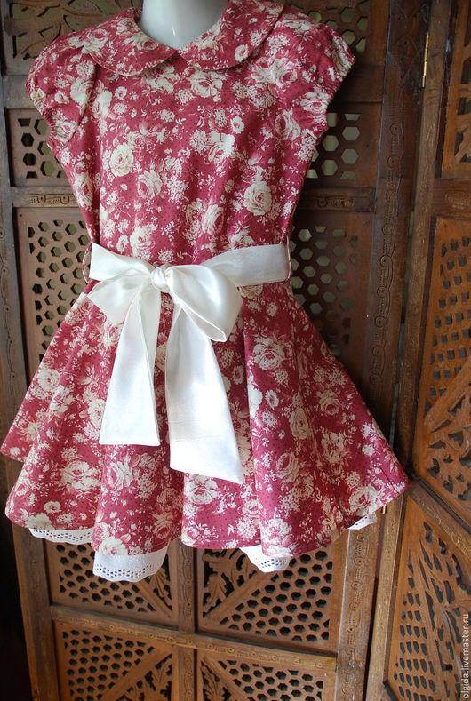 Одежда для девочек, ручной работы. Ярмарка Мастеров - ручная работа. Купить ВИНТАЖ платье для девочки. Handmade. Платье нарядное