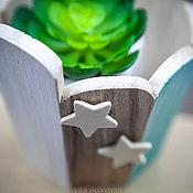"""Для дома и интерьера ручной работы. Ярмарка Мастеров - ручная работа деревянная кадка-кашпо """"звезды"""". Handmade."""