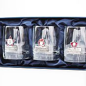 Сувениры и подарки handmade. Livemaster - original item A set of glasses NOSTALGIA (ENAMEL). Gift set (3 cups/glasses). Handmade.