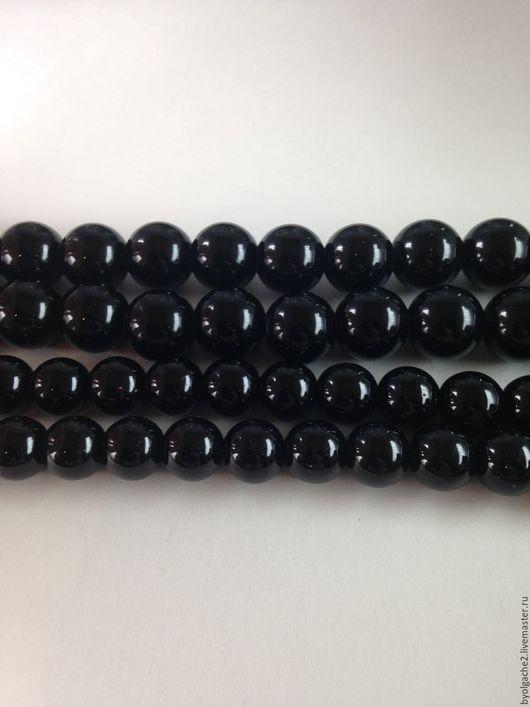 Для украшений ручной работы. Ярмарка Мастеров - ручная работа. Купить Агат черный бусины 8 и 10мм. Handmade. Черный