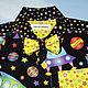 """Одежда для мальчиков, ручной работы. Рубашка """"Просто космос"""". Рубашкино. Inessa Gokke. Ярмарка Мастеров. Звезды, дизайнерская рубашка"""