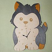 Для дома и интерьера handmade. Livemaster - original item Wall clock Puppy. Handmade.