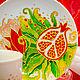 """Сервизы, чайные пары ручной работы. Чашка с блюдцем """"Гранат"""". Юлия Смирнова. Ярмарка Мастеров. Чашка гранат, ярко-красный"""