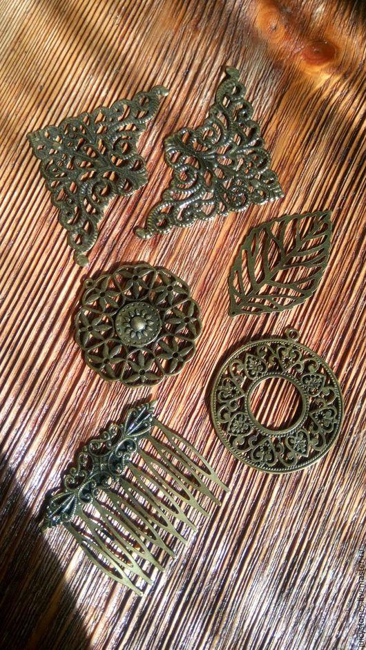 Для украшений ручной работы. Ярмарка Мастеров - ручная работа. Купить Подвески металлические под бронзу, под серебро. Handmade.