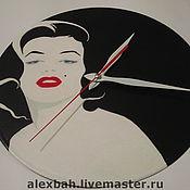 """Для дома и интерьера ручной работы. Ярмарка Мастеров - ручная работа Часы """"Мэрилин"""". Handmade."""
