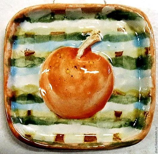 Натюрморт ручной работы. Ярмарка Мастеров - ручная работа. Купить Яблочко. Handmade. Разноцветный, панно, украшение для интерьера