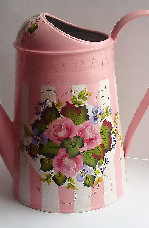 Watering can painted, for watering houseplants 'On Shabby!', Watering Cans handmade, , Фото №1