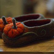 """Обувь ручной работы. Ярмарка Мастеров - ручная работа тапочки """"Тыковки"""". Handmade."""