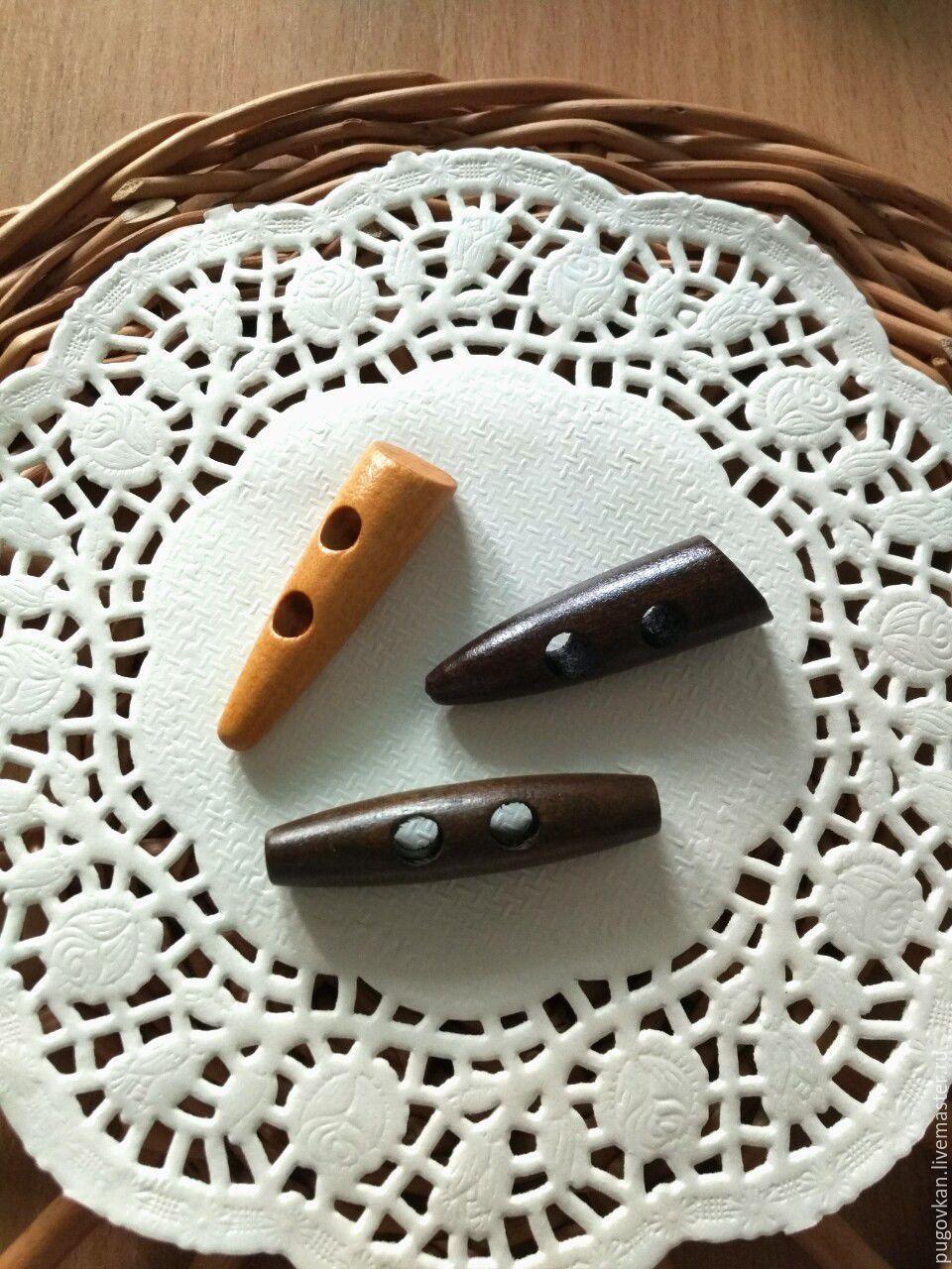Пуговицы деревянные 4,7 см и 5 см, Пуговицы, Глазов, Фото №1