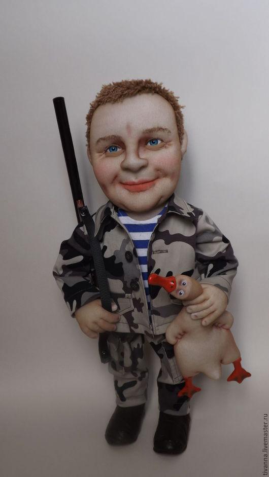 Портретные куклы ручной работы. Ярмарка Мастеров - ручная работа. Купить Портретная кукла Охотник.. Handmade. Комбинированный, охотнику, капрон