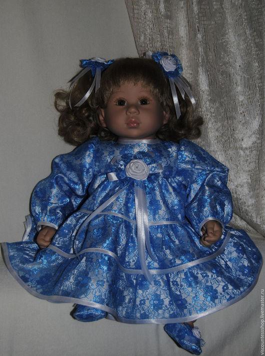 """Одежда для кукол ручной работы. Ярмарка Мастеров - ручная работа. Купить """"Жемчуг и бирюза"""". Handmade. Бирюзовый, атласный рулик"""