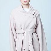 Одежда ручной работы. Ярмарка Мастеров - ручная работа Жакет из лодена, бежевая розовая шерстяная куртка на запахе. Handmade.