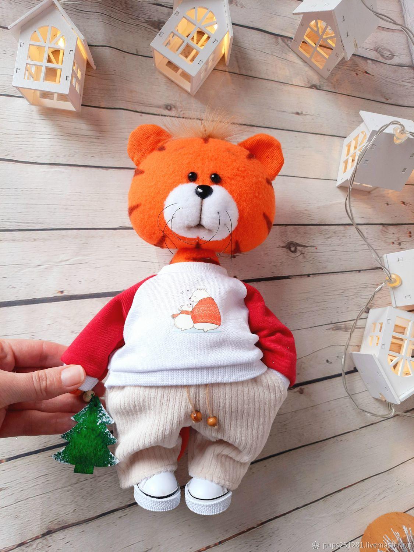 Tiger Fyodor. Symbol of the year 2022, Stuffed Toys, Suvorov,  Фото №1