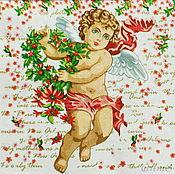 Материалы для творчества handmade. Livemaster - original item Napkins for decoupage angel Cupid print. Handmade.