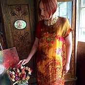 """Одежда ручной работы. Ярмарка Мастеров - ручная работа Шелковое платье """"Арабеска"""". Handmade."""