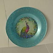 Посуда ручной работы. Ярмарка Мастеров - ручная работа Тарелка десертная Павлин. Handmade.