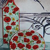 """Для дома и интерьера ручной работы. Ярмарка Мастеров - ручная работа Набор """"Маки"""". Handmade."""
