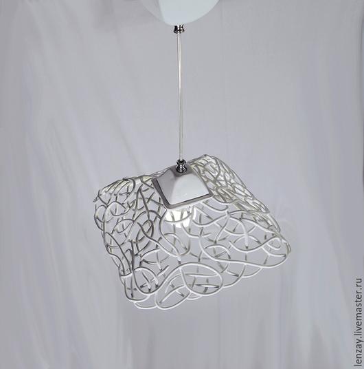 Светильник `Ажур в квадрате`. Плетеная керамика Елены Зайченко