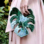 Посуда handmade. Livemaster - original item Handmade monstera. Custom ceramic monstera sheet. Handmade.