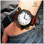 Украшения handmade. Livemaster - original item Watch with backlight for diving Petroglif M6W mechanical. Handmade.