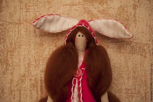 Куклы Тильды ручной работы. Ярмарка Мастеров - ручная работа. Купить - Кэрриетта - тильда. Handmade. Фуксия, кукла текстильная