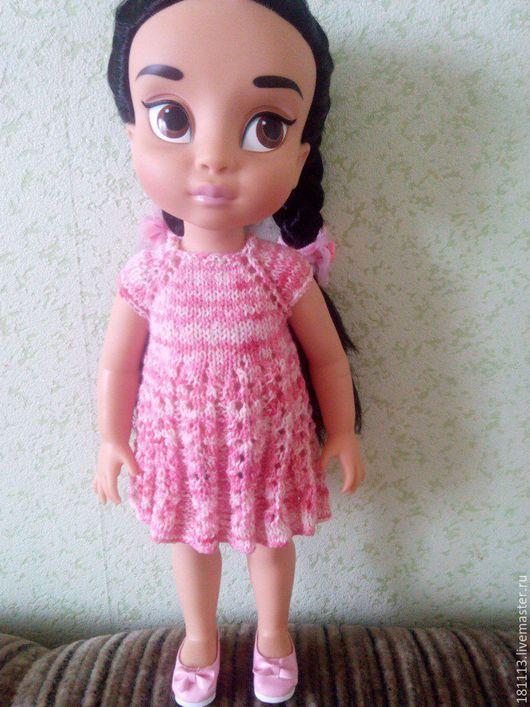 Одежда для кукол ручной работы. Ярмарка Мастеров - ручная работа. Купить Платье «Брианна». Handmade. Вязание для кукол, спицами