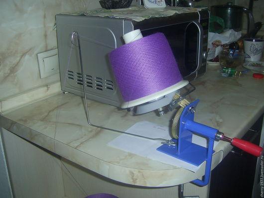 Вязание ручной работы. Ярмарка Мастеров - ручная работа. Купить Моталка для пряжи. Handmade. Тёмно-синий, пряжа для вязания