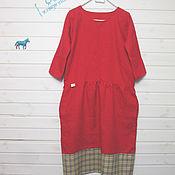 Одежда ручной работы. Ярмарка Мастеров - ручная работа красное/клетка. Handmade.