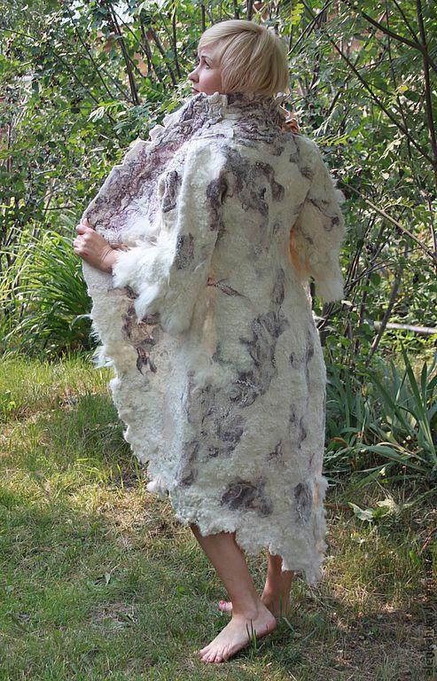 Верхняя одежда ручной работы. Ярмарка Мастеров - ручная работа. Купить Пальто Розовый Фламинго. Handmade. Валяное пальто