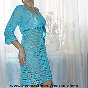 Одежда ручной работы. Ярмарка Мастеров - ручная работа Летнее ажурное платье. Handmade.