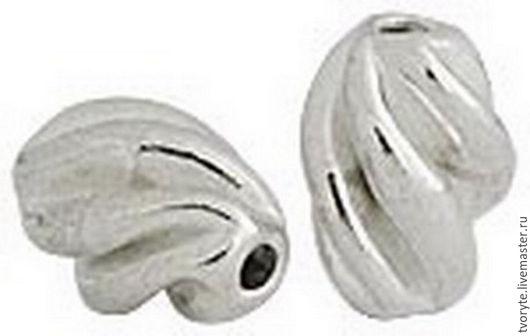 Для украшений ручной работы. Ярмарка Мастеров - ручная работа. Купить Бусина серебро 925 пробы Таиланд. Handmade. Серебряный