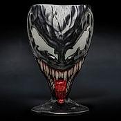 Посуда handmade. Livemaster - original item Venom |Venom /  Ceramic glass. 0.7 l. Marvel Comics.  Spider-Man. Handmade.