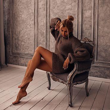 Одежда ручной работы. Ярмарка Мастеров - ручная работа Объёмный свитер (Капучино). Handmade.