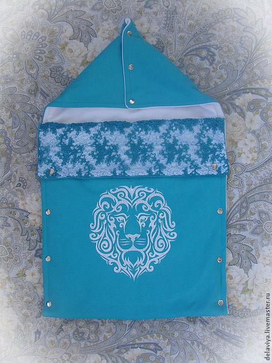 """Для новорожденных, ручной работы. Ярмарка Мастеров - ручная работа. Купить Конверт на выписку и коляску """"Король Лев"""". Handmade. на выписку"""
